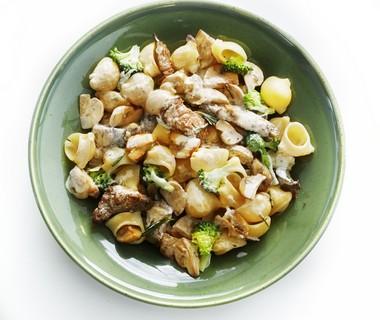 Romige biefreepjes met champignons