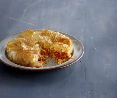 Zuurkoolpastei met kip en chorizo