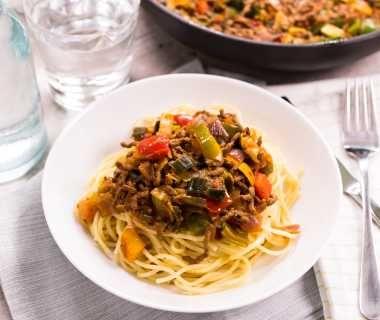 Klassieke spaghetti met rundergehakt