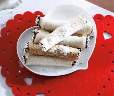 Broodrolletje met chocopasta