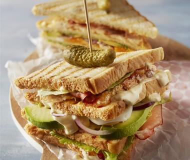 Dubbeldikke clubsandwich