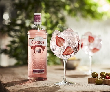 Gordon's pink gin cocktail