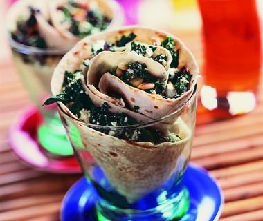 Wrap met spinazie en feta