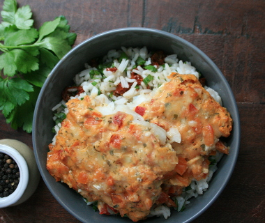 Iglo Fish Cuisine Italiano met verse rijstsalade