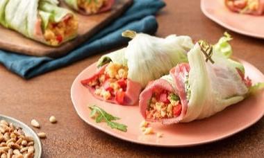 Lunchwrap met gegrilde rosbief en groene pesto