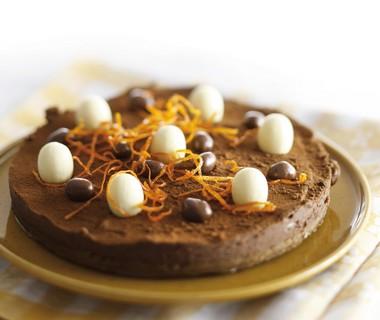 Pure chocolade-roomtaart