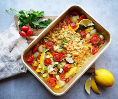 Iglo Fish Cuisine Italiano met groenten uit de oven