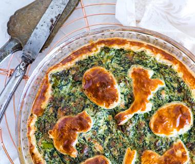Spinazie-aspergetaart met zalm van Foodquotes