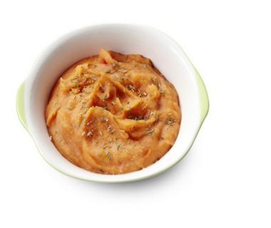 Aardappelpuree met tomaten