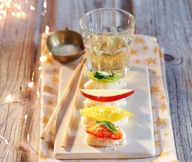 Fruitige kokos-'sushi'