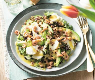 Salade van Hollandse garnalen
