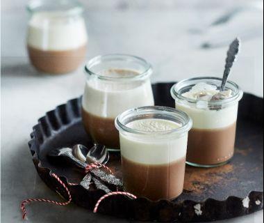 Vanille-hazelnoot panna cotta