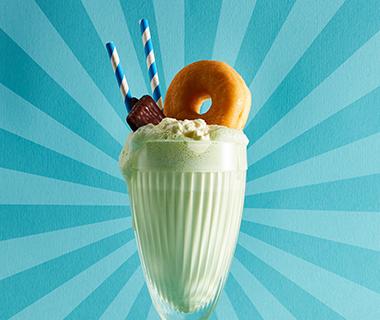 Munt-gember-milkshake