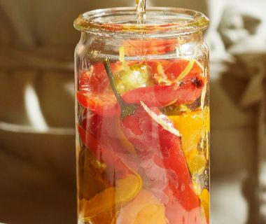 Paprika en pepers met citroen