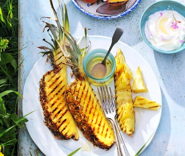 Gegrilde ananas, naar idee van Tamara