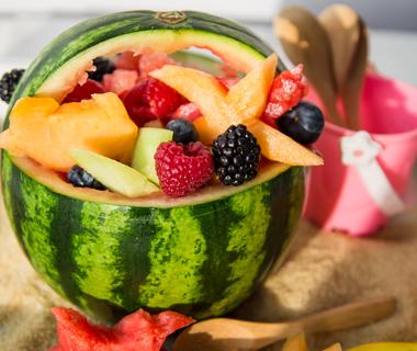 Fruit in watermeloen