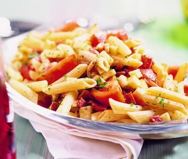 Bonte pastasalade