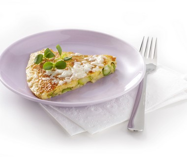 Omelet met groene asperge
