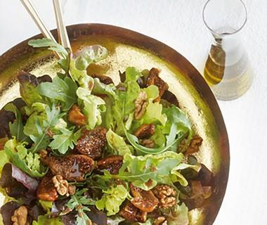 Salade met vijgen en walnoten