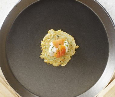 Courgettepannenkoekjes met zalmsnippers