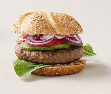 Broodje pindakaas-burger