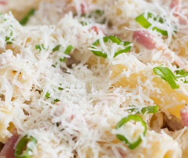 Pasta Carbonara van Feliciana Cacciapuoti