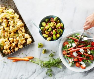 Linzensalade met balsamico-worteltjes