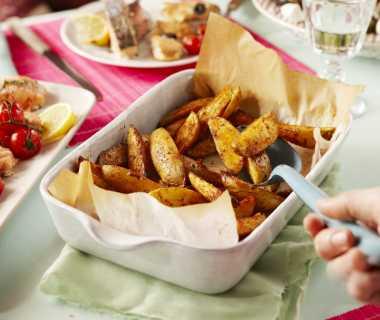 Aardappels uit de oven met specerijen