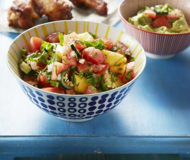 Tomaten-mangosalsa