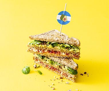 Veggie clubsandwich