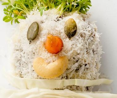 Koolpop met gehakt en kokos