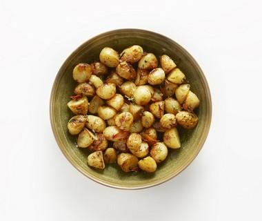 Geroosterde aardappels met tijm en mandarijn