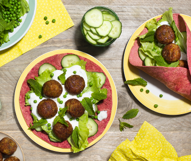 Bieten wraps met falafel