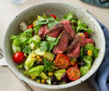 Mexicaanse biefstuk salade