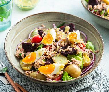 Salade Nicoise met bietjes