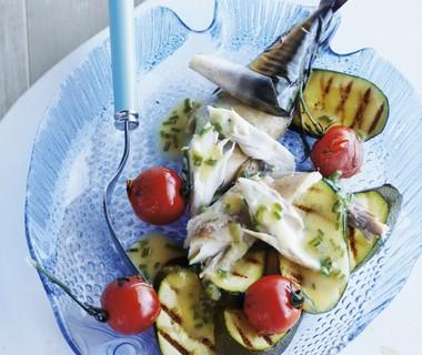 Makreel met geroosterde courgette en kerstomaat